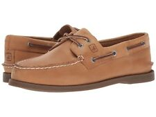 NEW Mens SPERRY TOP-SIDER Sahara Brown Leather A/O AUTHENTIC ORIGINAL Boat Shoes