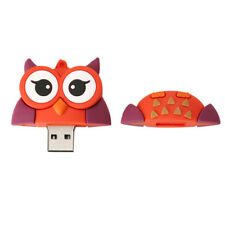 USB 2.0 Memory Stick Flash Pen Drive 3D Cartoon Owl Shape 16GB/32GB/256GB