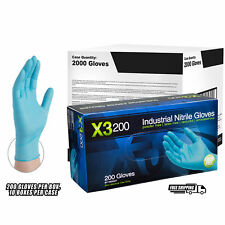 AMMEX X3D Blue Nitrile Industrial Latex Free Disposable Gloves (Case of 2000)