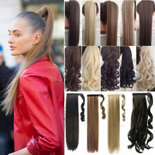 US Real NEW Clip In as human Hair Extension Pony Tail Wrap Around Ponytail PM2
