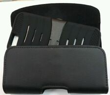 FOR XL LARGE PHONES BLACK Leather PU Pouch Holder Belt Clip Loop Holster Case