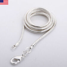 925 Sterling Silver Snake Chain Necklace .925 Italy All Sizes 1.1mm