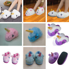 Warm Plush Unicorn slippers Home cotton slippers Adult Indoor Heel Slippers
