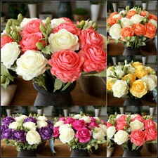 Artificial Flower Fake Peony Bridal Bouquet European Silk Decoration Flowers