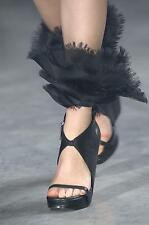 Rick Owens Runway Organza Wedge Sandals Shoes Size 39,5 $2425