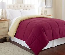 Down Alternative Reversible Comforter Set Soft Hotel Solid KING/QUEEN/TWIN Bed
