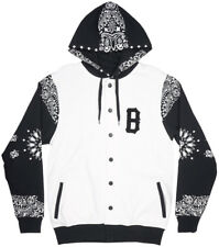 Black Scale Couvre Jacket Hooded Mens White Bandana Blvck Scvle