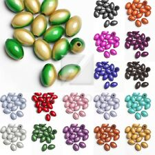 15pcs Acrylic Rice Miracle Beads Illusion 14x9.5x9.5mm 18 Colors IW