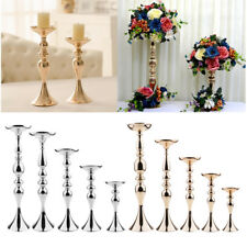 Pillar Church Metal Candle Holder Stick Wedding Table Flower Vase Rack 2 Colors