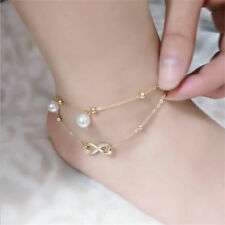 1Pcs Beach  Gift Anklet Bracelet Double Chain Sexy 8 Words Jewelry Women