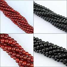 Red Agate Black Onyx Round Ball Spacer Loose Beads 2mm 3mm 4mm 6mm 8mm 10mm 12mm