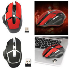 2400DPI Adjustable Game Mice 2.4G Wireless Gaming Mouse for Mac Windows PC