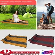 Self Inflating Double Picnic Sleeping Mat Air Bed Camping Hiking Joinable AM