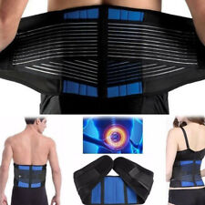 NEOPRENE BELT DOUBLE PULL Lumbar Lower Back Support Brace Pain Relief S-XL Fast