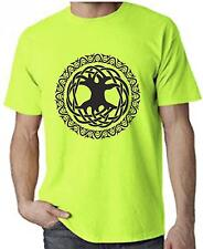 CELTIC TREE OF LIFE NEON T-SHIRT - Pagan Druid Wicca - Colour Choice