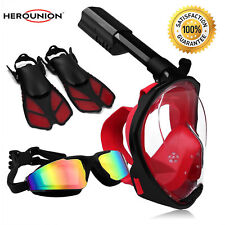 Swimming Goggles Glasses Snorkeling Mask with Adjustable Diving Fins For Swim
