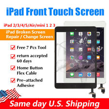 Touch Screen Digitizer Replacement For Apple iPad 2/3/4/Air/mini - Black /White
