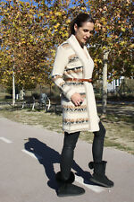 NEW MASSIMO DUTTI ZARA GROUP ETHNIC  BEIGE JACKET COAT WITH BELT REF.5743/760