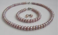 9-10mm Freshwater Pearl Necklace Bracelet Earrings 3 Pieces Set from Pearls Farm