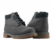 Timberland 6-Inch Premium Waterproof Dark Grey Youth Litte Kids Boots A1A72