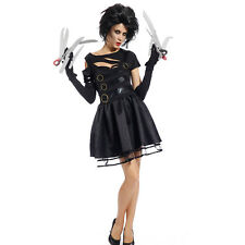 1980s Movie Womens Adult Miss Edward Scissorhands Halloween Fancy Dress Costume