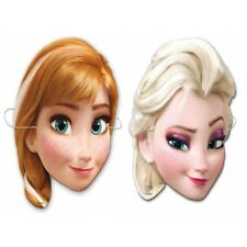 DISNEY FROZEN DRESS UP CARD MASKS - FANCY DRESS PARTY - ELSA / ANNA FACE MASK