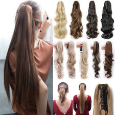 Claw Thick Wavy Curly Pony Tail Long Layered Ponytail Clip In Hair Extensions AN