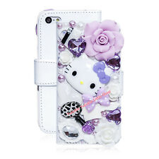 3D Crystal Hello Kitty Flip Wallet Leather  Case For iphone 7 7plus 6 6plus
