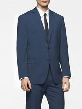 calvin klein mens body slim fit blue nailhead suit jacket