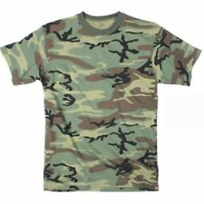 Woodland Camouflage - Military T-Shirt USA Made