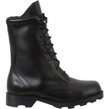 Black - Military GI Style Speedlace Combat Boots - Leather 10 in.