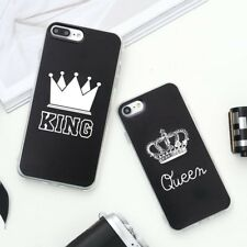 Valentine KING Queen Case for iPhone 6 Case for iPhone 5s 5 Cover Clear Silicone