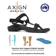 AXIGN™ Viva Orthotic Arch Support Sandals (BLACK) - Foot Pain Relief