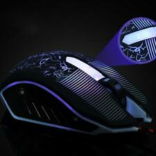 LED USB Wired Optical Game Gaming Mouse 7 Buttons Adjustable 3200 DPI Laptop