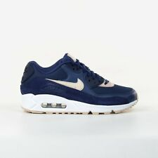 Nike WMNS Air Max 90 Blue Oatmeal White Womens Running Shoes Sneakers 325213-410