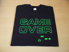 RETRO GAMERS  T SHIRT GAME OVER DESIGN S M L XL XXL SPACE INVADERS