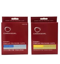 Connoisseurs Ultrasoft Silver Jewelry Polishing Cloth, Gold Polishing Cloth