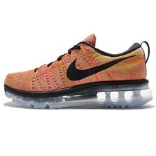 Nike Women's Wmns Flyknit Max, ALUMINIM/BLACK-HOT PUNCH