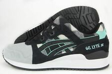 Asics Gel-Lyte III H6Y0L-0190 White Black Suede Textile Casual Shoes (D, M) Men