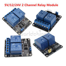 2 Channel Relay Module 5V/12V/24V With Optocoupler PIC AVR DSP ARM For Arduino