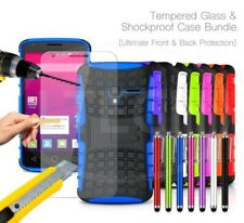 For HTC - Shockproof Hybrid Case Cover, Glass Protector & Stylus Pen