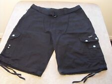 Black Victorious belted urban, low rider cargo shorts. $$$ PLUS FREE T-SHIRT $$$