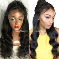 Real Thick Body Wave Lace Front Human Hair Wigs Glueless Brazilian Virgin Hair