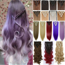 100% Real Thick Full Head Clip in Hair Extensions Double Weft Human Curly Wavy