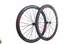 50mm Clincher Carbon Bicycle Wheels 700C WOKECYC Carbon Road bike Wheelset