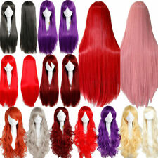 Hot Fashion Womens's Wigs Medium Long Curly Wavy Anime Cosplay Party Bvf