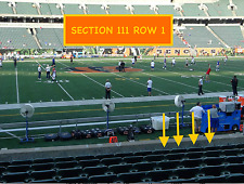 4 Front row Cleveland Browns at Cincinnati Bengals tickets in section 111 row 1
