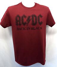 AC-DC Men's t-Shirt -BACK IN BLACK-  MENS BURGUNDY TEE ACDC NEW!
