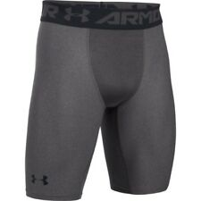 Under Armour Heatgear 2.0 Long Compression Mens Shorts Running - Carbon Heather