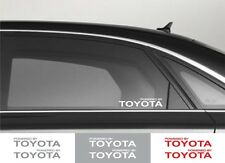 2pcs Powered by TOYOTA Window Vinyl Decal Sticker Emblem Logo Graphic